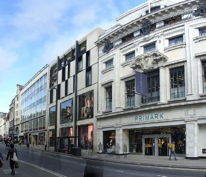 Primark store near Tottenham Court Road