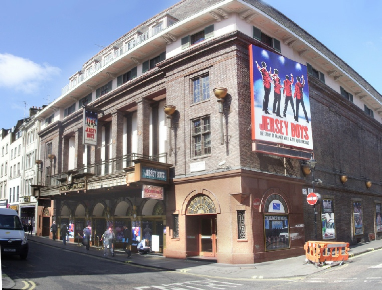 Prince Edward theatre in London's Soho