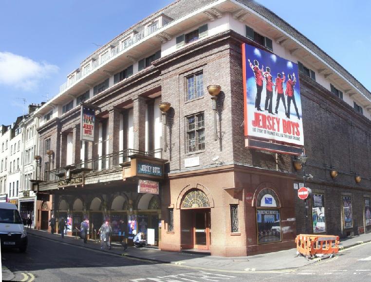 Prince Edward theatre in London's Soho