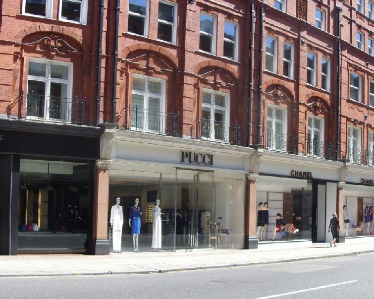 Pucci shop in London's Knightsbridge