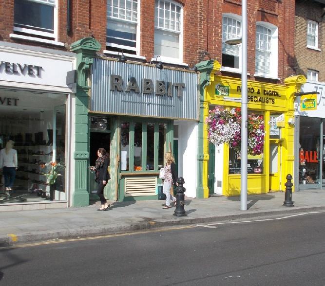 Rabbit restaurant on London's Chelsea King's Road