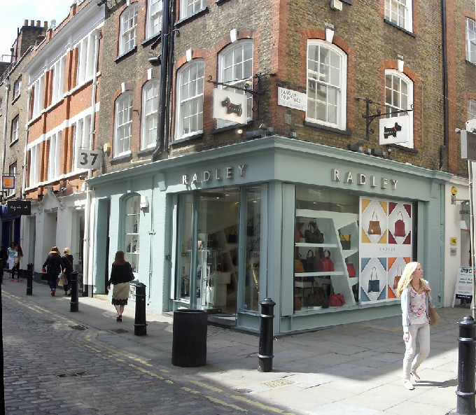 Radley handbags shop in London's Covent Garden