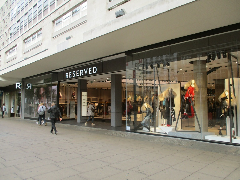 Reserved fashion store on London's Oxford Street