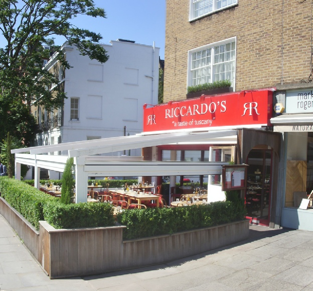 Riccardo's Italian restaurant in London's Chelsea