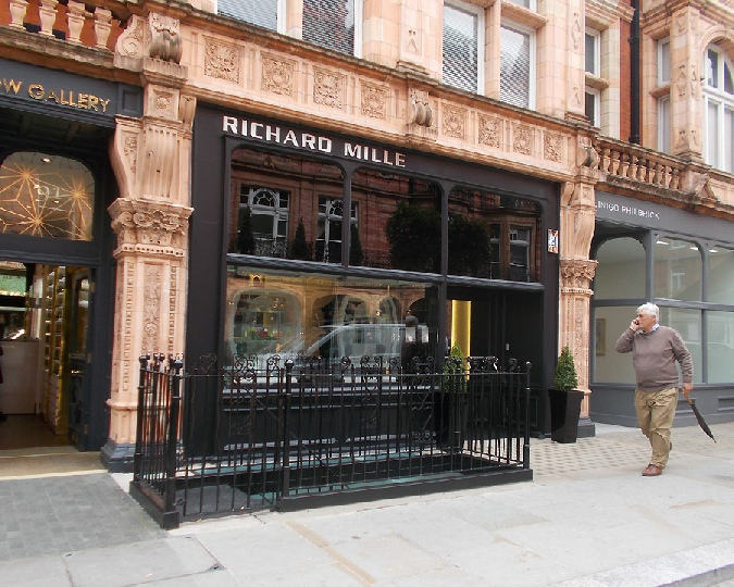 Richard Mille watches shop in London's Mayfair