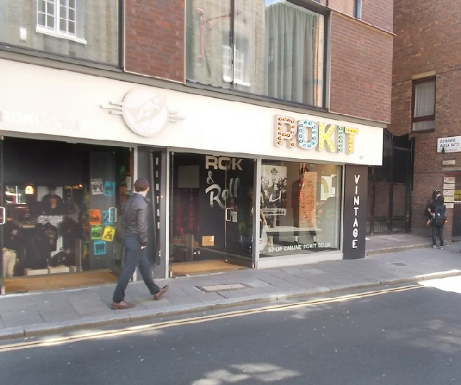 Rokit vintage clothing shop in London's Covent Garden