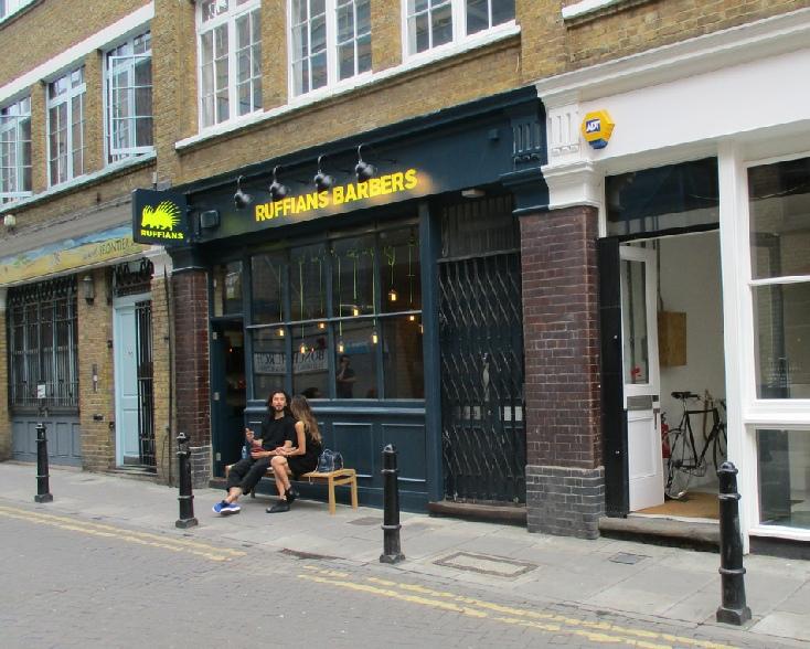Ruffians barbers in London's Shoreditch