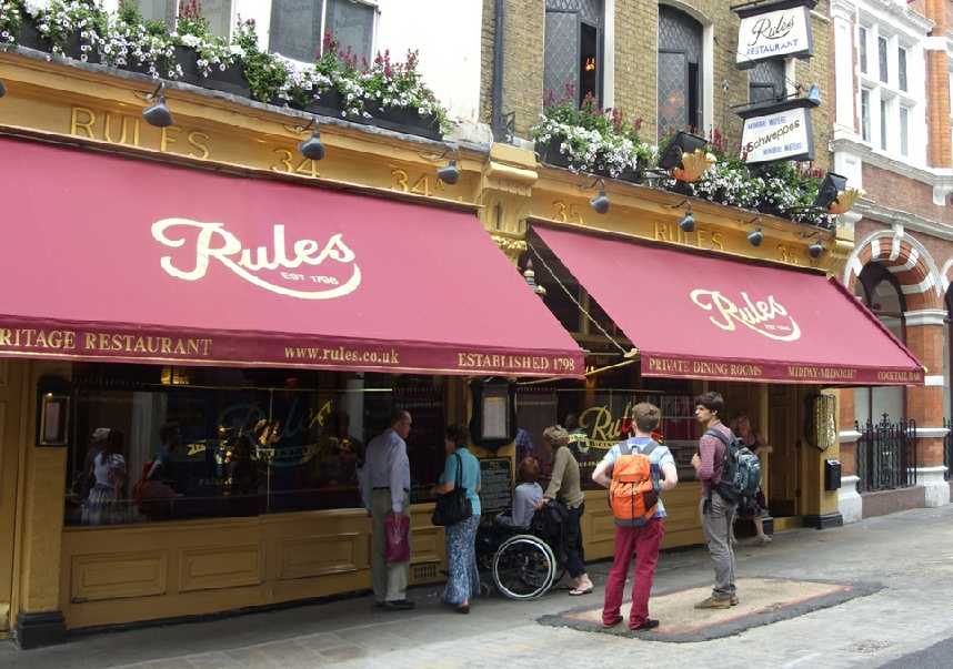 Rule's restaurant in Covent Garden