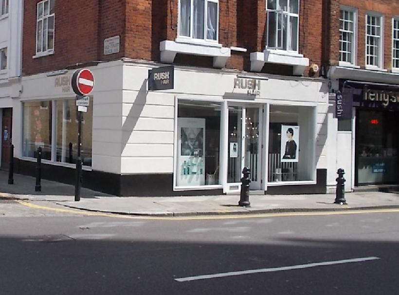 Rush hair salon in London's Kensington
