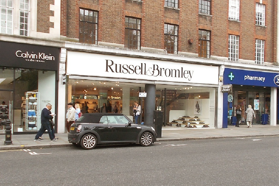 Russell and Bromley shoe shop in London's Chelsea