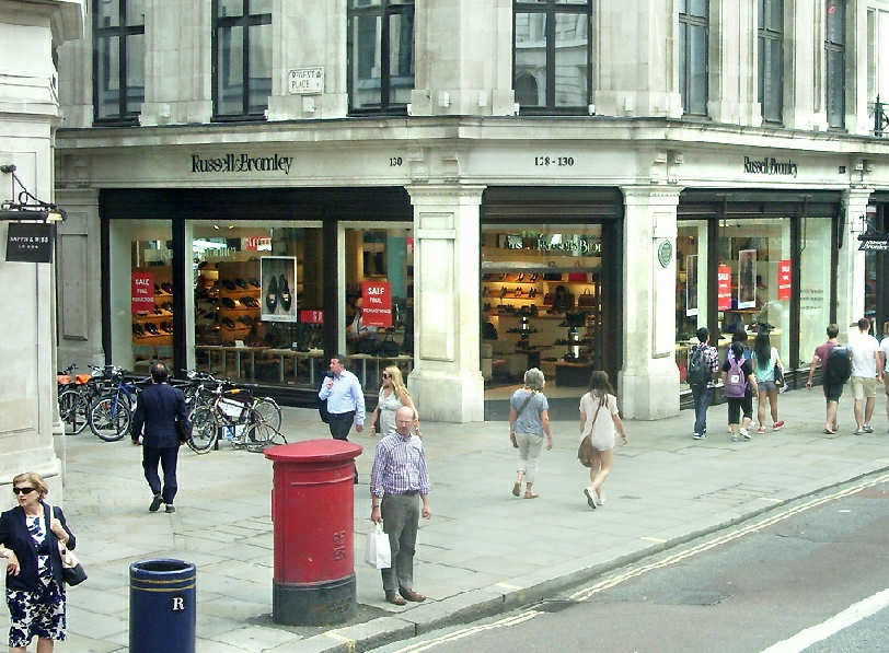 Russell and Bromley shoe shop on London's Regent Street