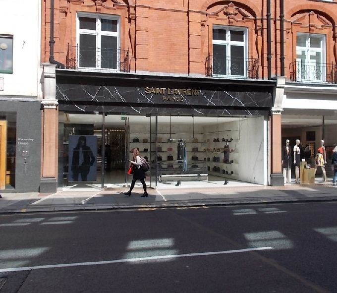 Saint Laurent shop on Sloane Street in London's Knightsbridge.