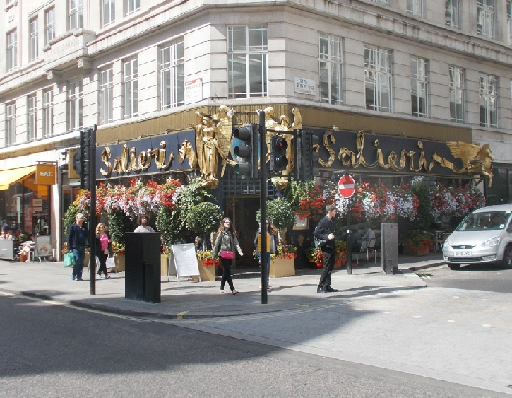 Salieri restaurant on the Strand in London