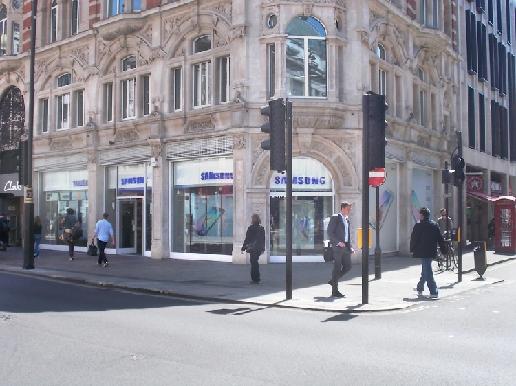 Samsung shop on Oxford Street in London