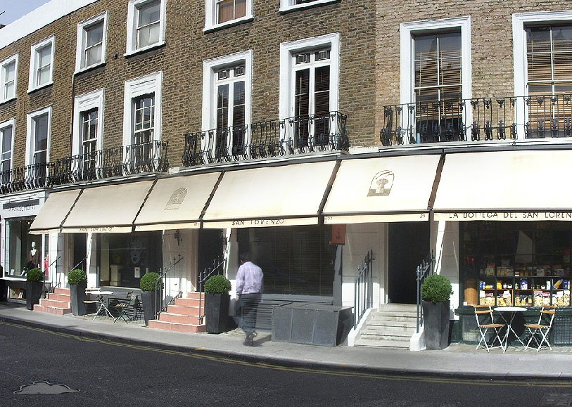 San Lorenzo restaurant in London's Knightsbridge