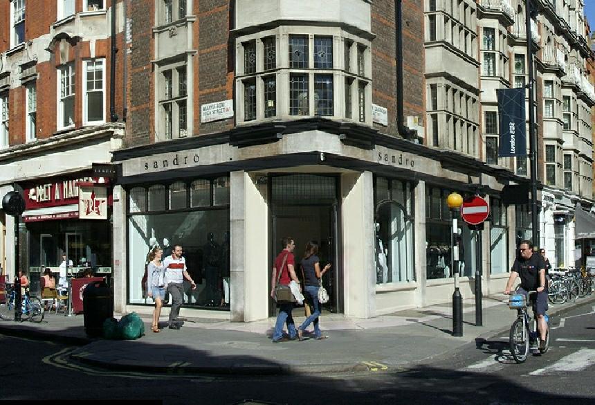 Sandro shop in London's Marylebone