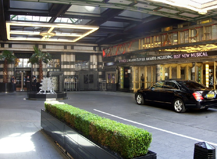The Savoy Theatre and Savoy Hotel entrance