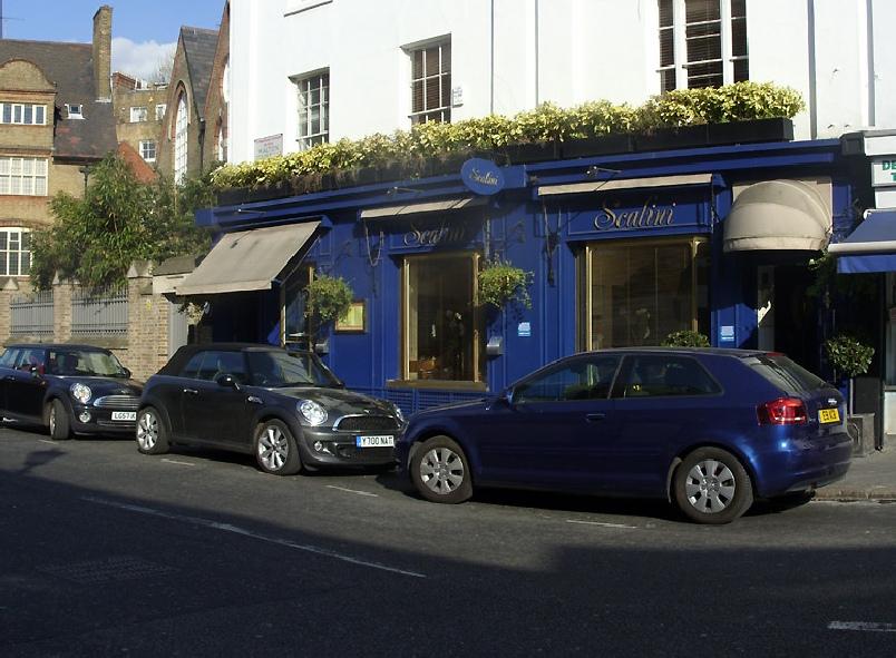 Scalini Italian restaurant in London's Knightsbridge