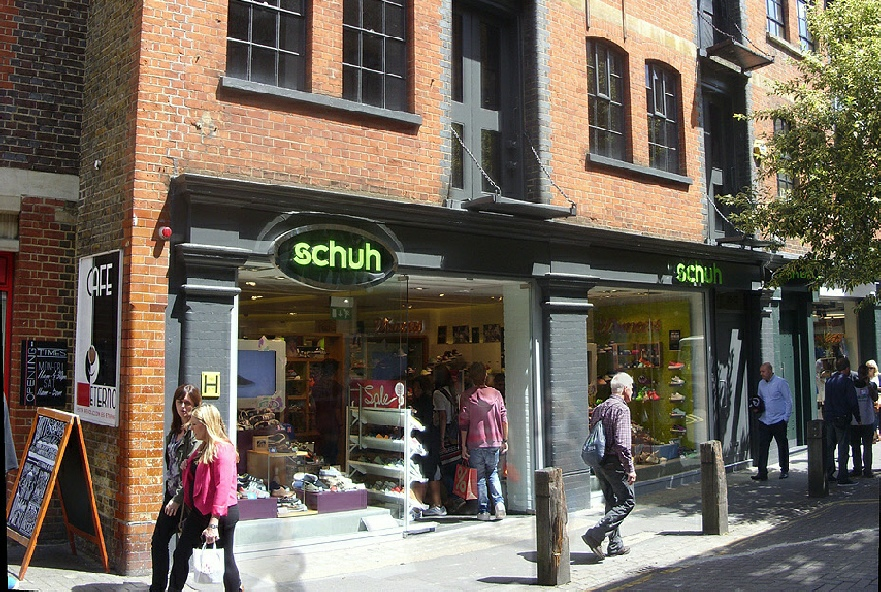 Schuh shoe shop in London's Covent Garden