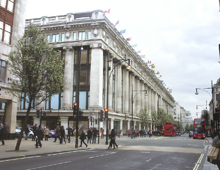 Selfridges department store on London's Oxford Street