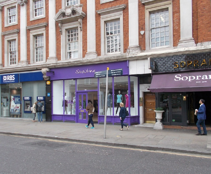 Seraphine maternity clothing shop in London's Kensington