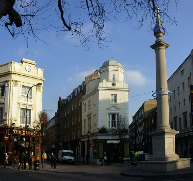 Seven Dials monument in London