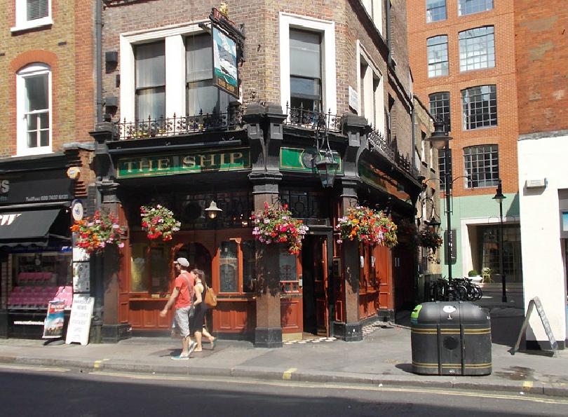 The Ship pub on Wardour Street in London's Soho