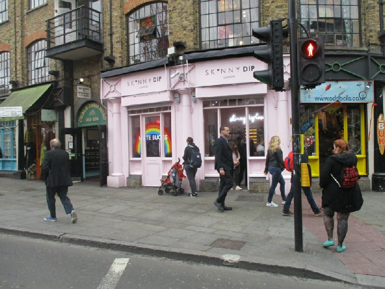 Skinny Dip shop in Camden, for bags and phone cases.