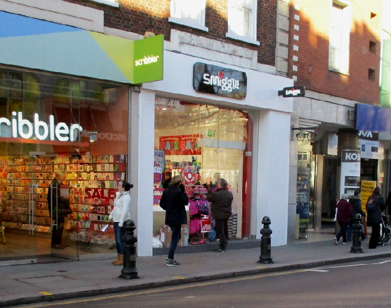 Smiggle stationery shop on King's Road in London's Chelsea