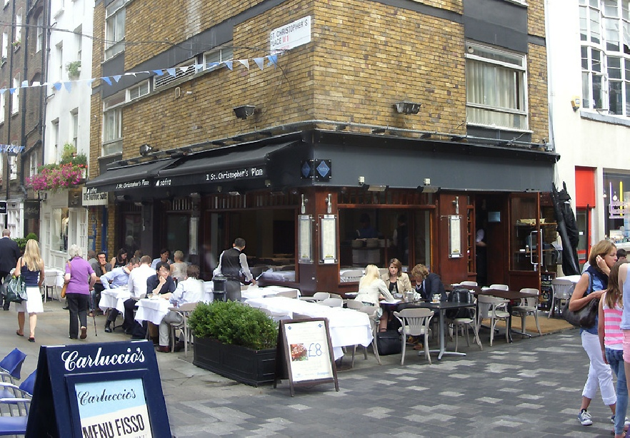 Sofra restaurant on St. Christopher's Place in Marylebone