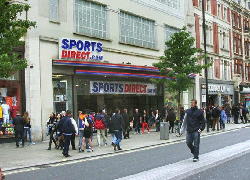 sports direct sportswear shop on london 39 s oxford street. Black Bedroom Furniture Sets. Home Design Ideas