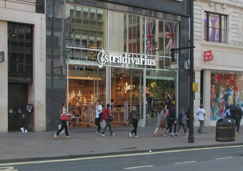 Stradivarius store on Oxford Street in London