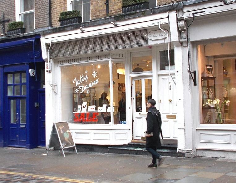 Tatty Devine jewellery shop in London's Seven Dials