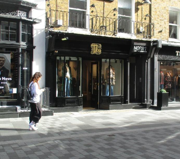 Tba womenswear shop on South Molton Street in London's Mayfair
