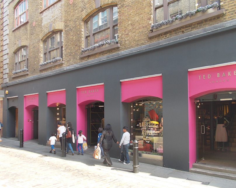 Ted Baker shop on Floral Street in London's Covent Garden