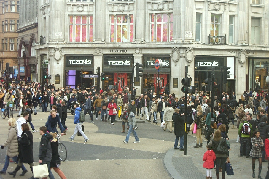 Tezenis shop at London's Oxford Circus