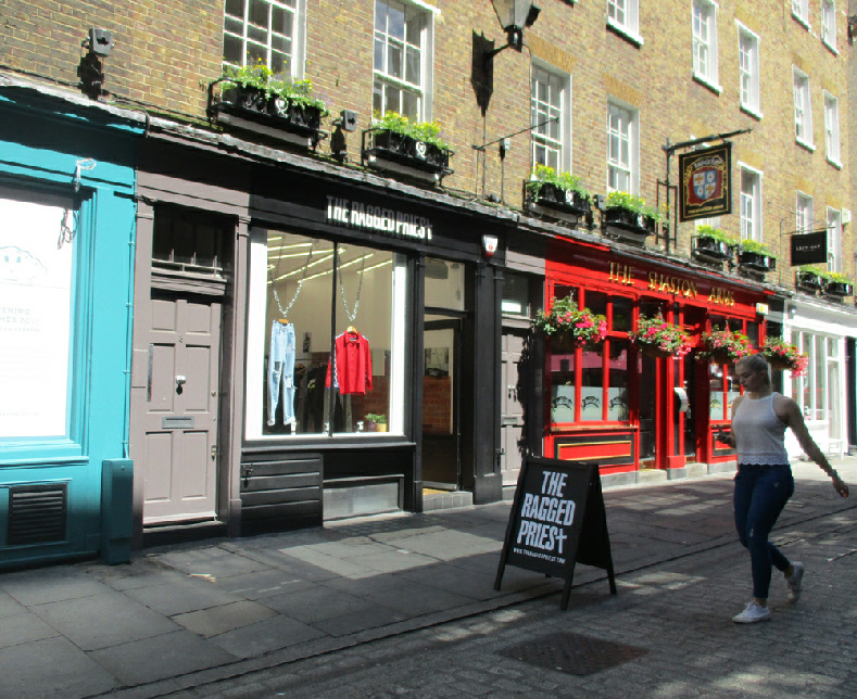 The Ragged Priest fashions shop near Carnaby Street in London