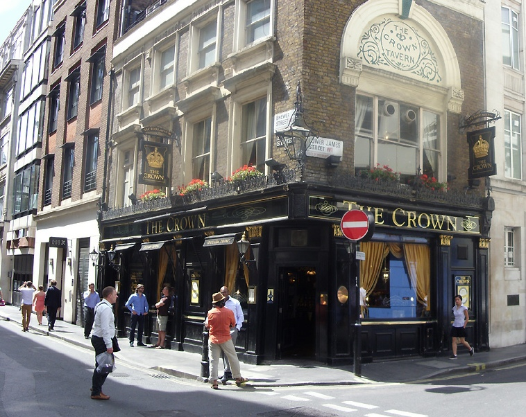 The Crown pub in London's Soho