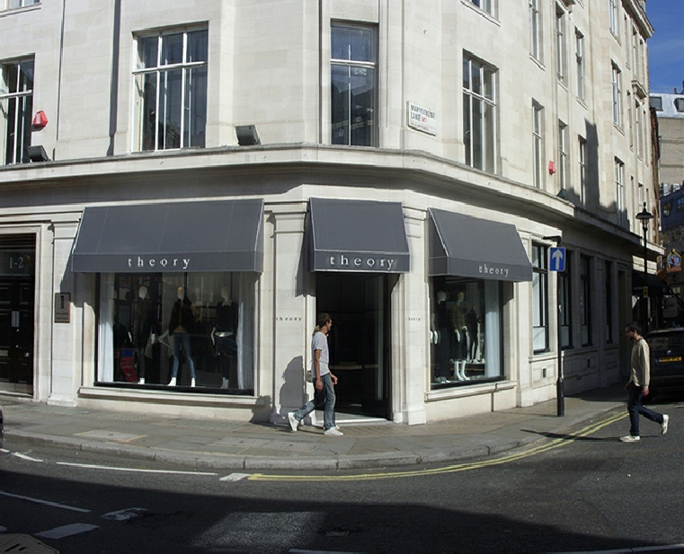 Theory shop in London's Marylebone