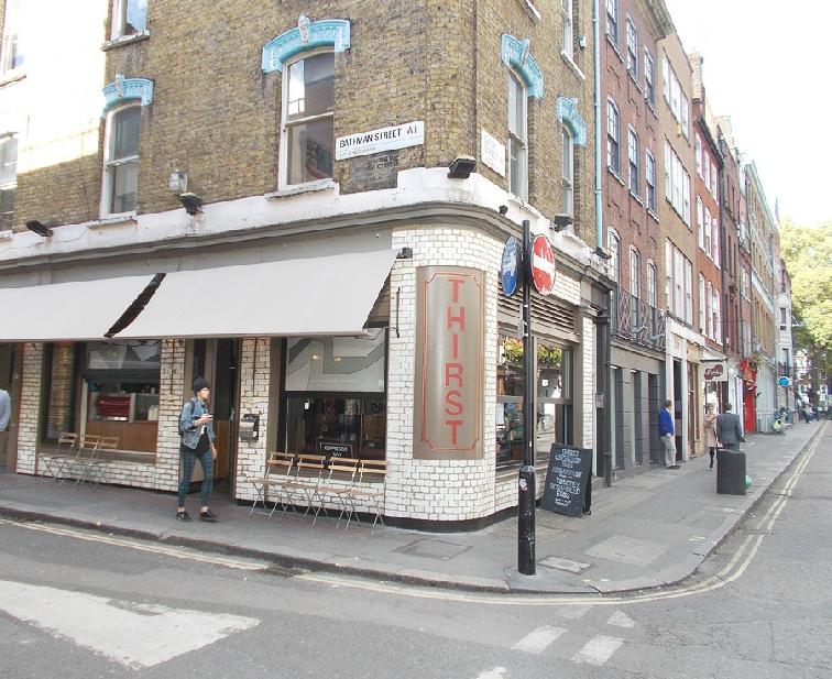 Thirst bar in London's Soho