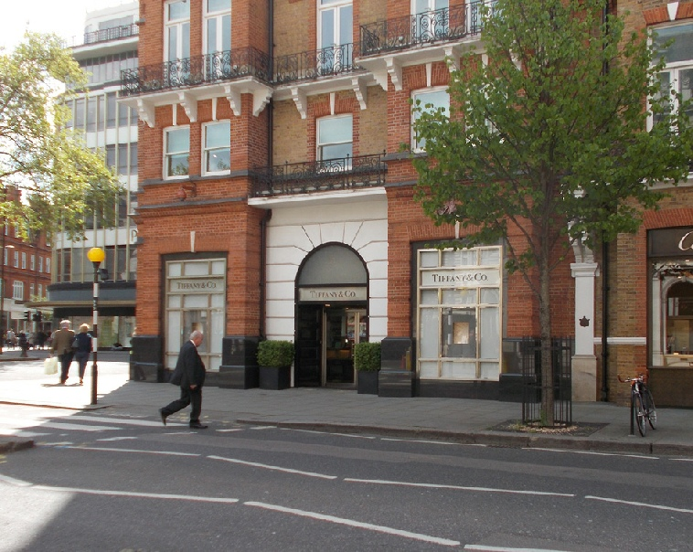 Tiffany and Co jewellery shop at Sloane Square in Chelsea
