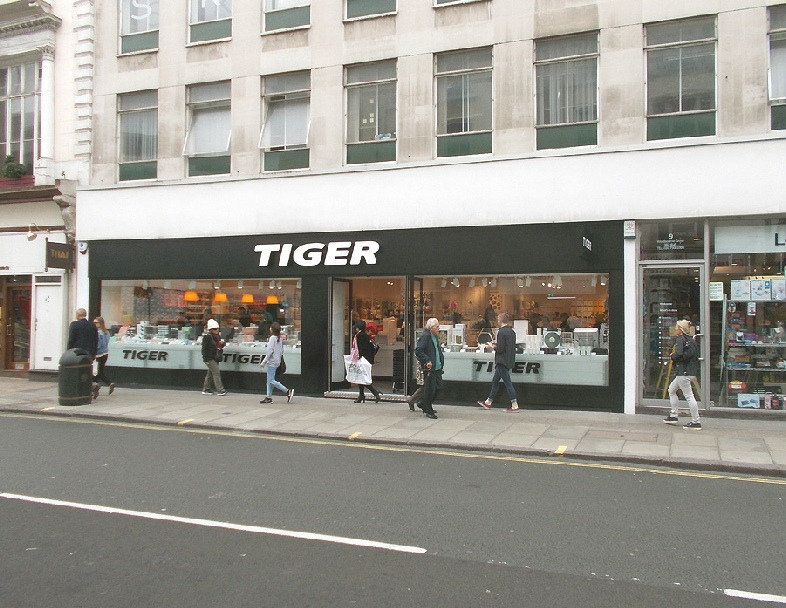 Tiger homewares shop in London's Bayswater