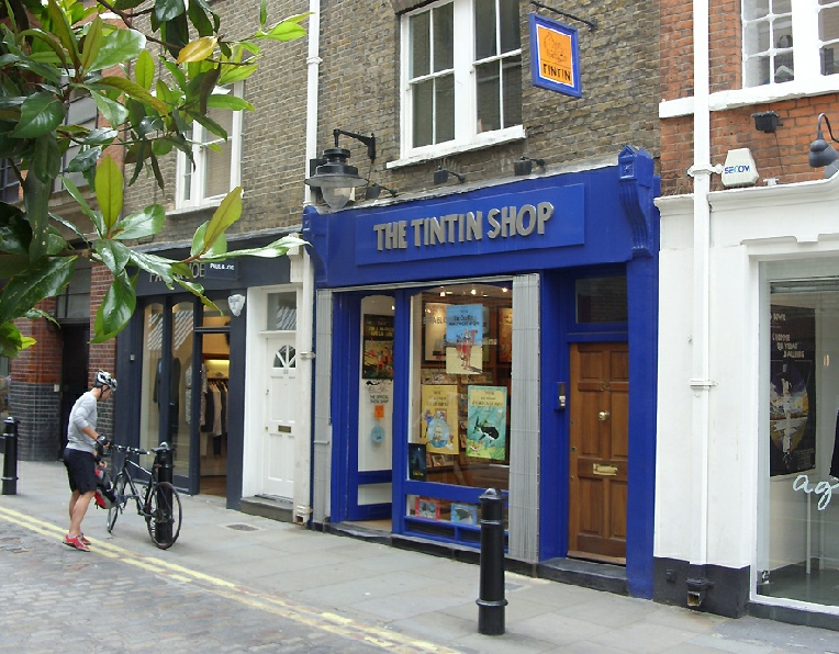 The Tin Tin shop in Covent Garden