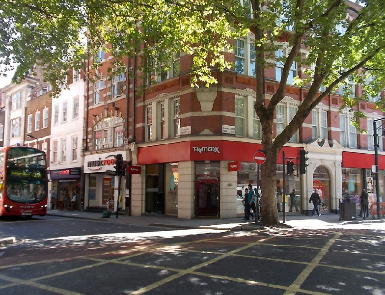 TK Maxx clothing store in Central London