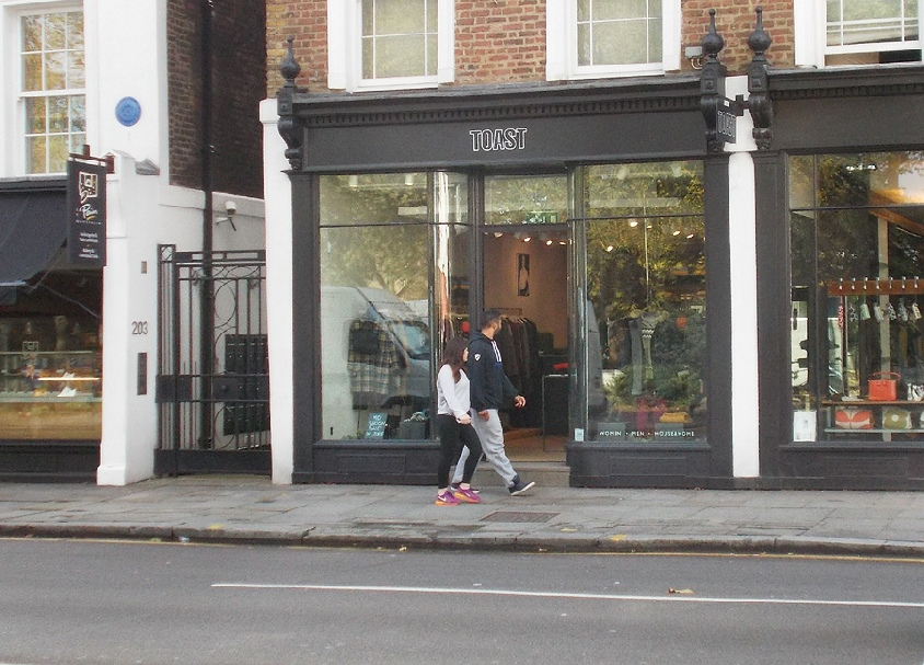 Toast fashions and homeware shop in London's Chelsea