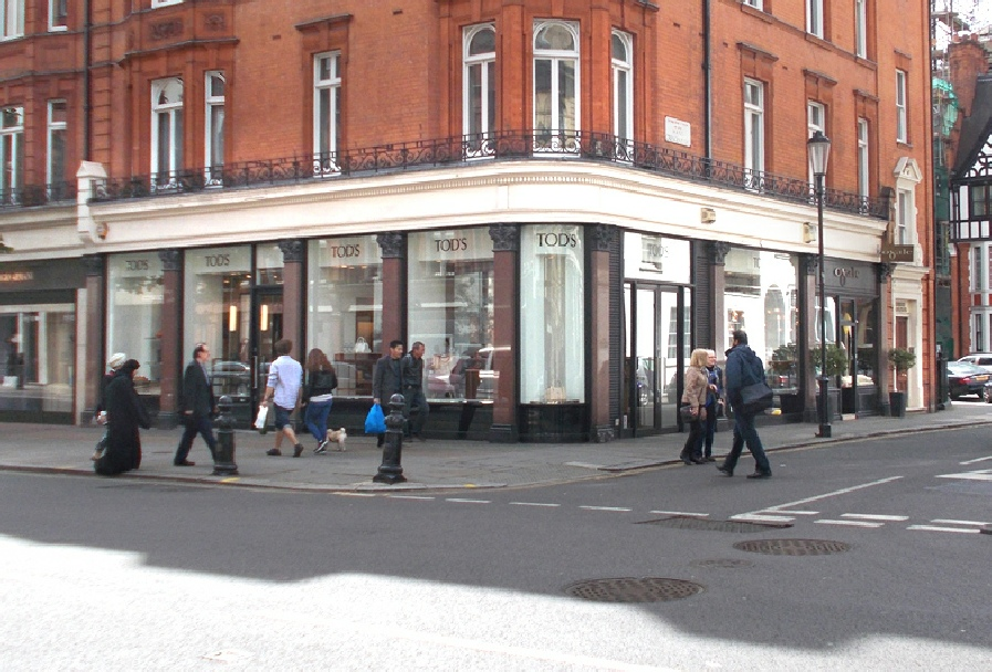 Tod's shoeshop in London's Knightsbridge