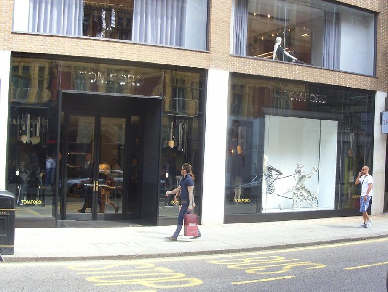 Tom Ford shop in London's Knightsbridge