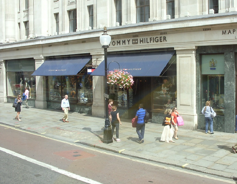 Tommy Hilfiger store on London's Regent Street