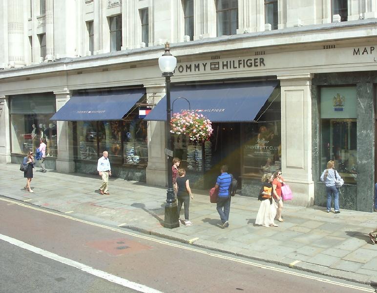 Tommy Hilfiger store on London's Regent Street