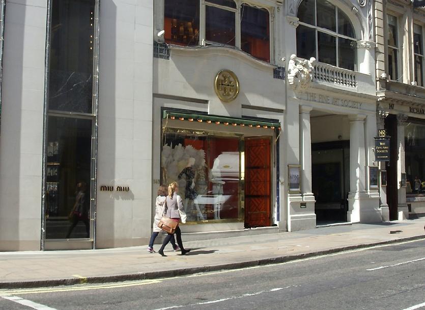 Tory Burch shop on Bond Street in London's Mayfair